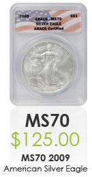Numismatic MS70 American Eagle