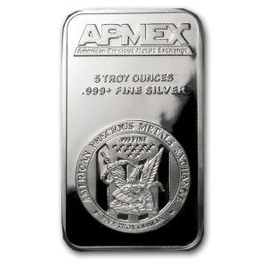 5oz Apmex Silver Bar