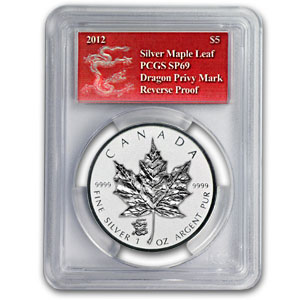 2012 Silver Canadian Maple Leaf Dragon Privy