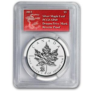 2012 Silver Canadian Maple Leaf Dragon Privy
